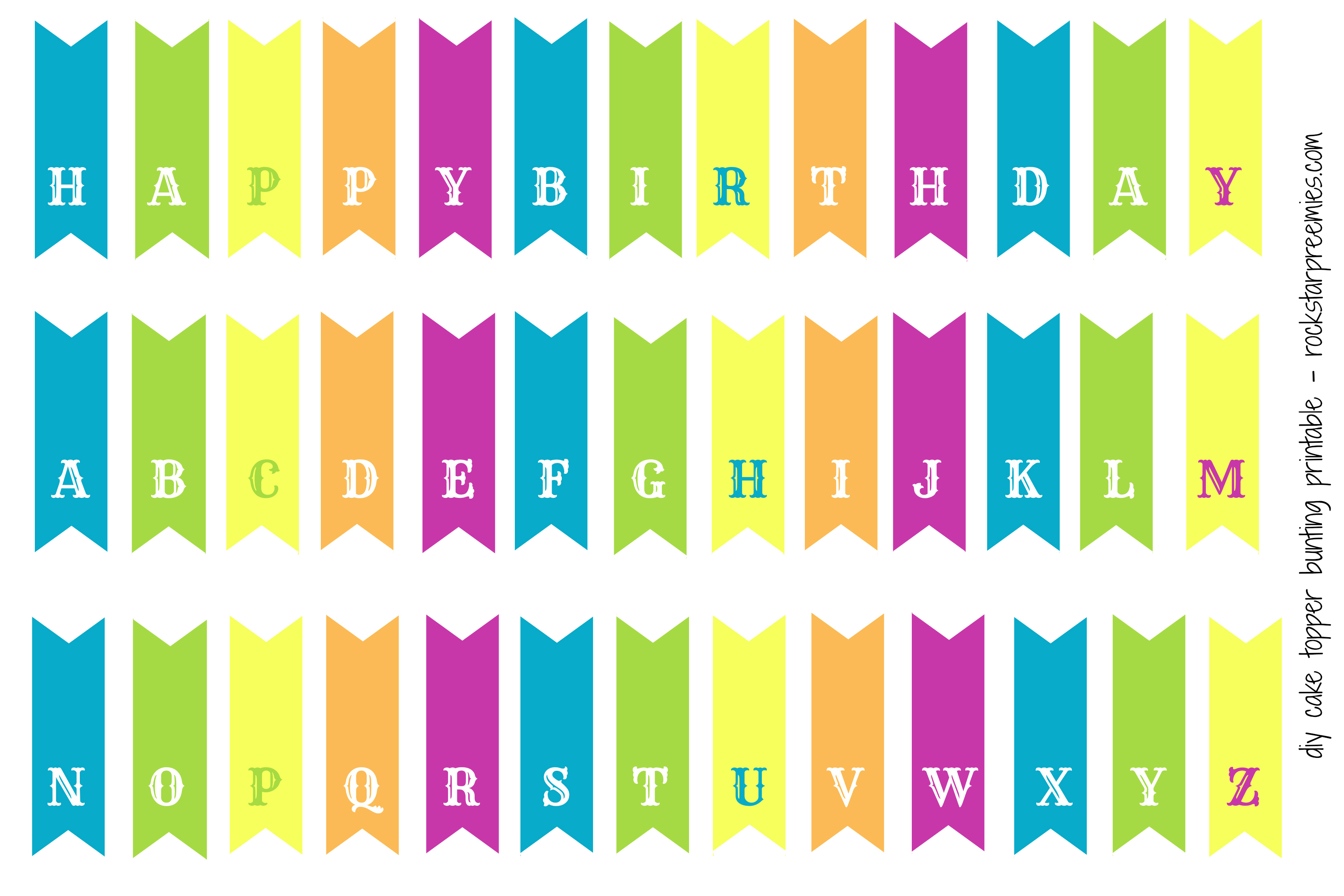 First birthday for two and a free diy bunting printable for Party wall letter template